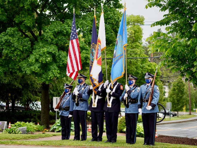 The Durham Police and Fire combined color guard on Memorial Day, Monday, May 31, 2021.