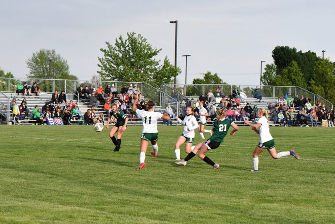 Geneseo sophomore Danielle Beach was a key player in leading the Leafs to win the Western Big 6 Conference title in the game against Alleman on May 27.