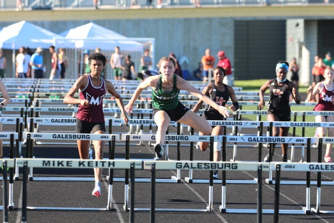Ali Rapps placed first in the 100m hurdles for the Leafs.