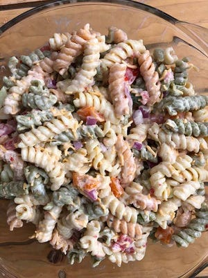Dorcas Raber's super pasta salad.
