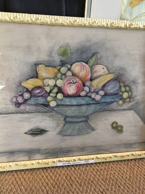 A fruit bowl composet painted by Martha Mueller is now on display at the Stafford County Hospital in Stafford, along with several other locally-created works of art.