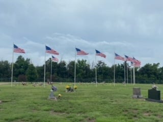 Fairview Cemetery in St. John is decorated for Memorial Day in Stafford County.