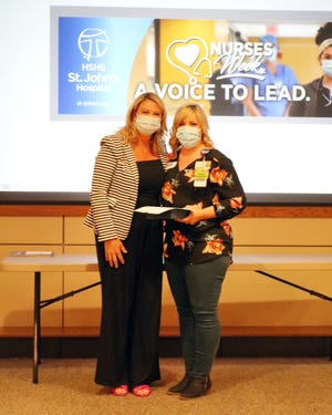 Polly Hohenbery was named HSHS St. John's Hospital's nurse leader of the year.