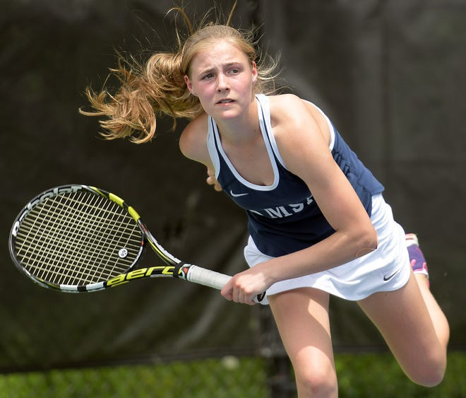 AMSA's Kirsten Hailey was the Central Mass. girls' tennis individual champion as a freshman in 2018.