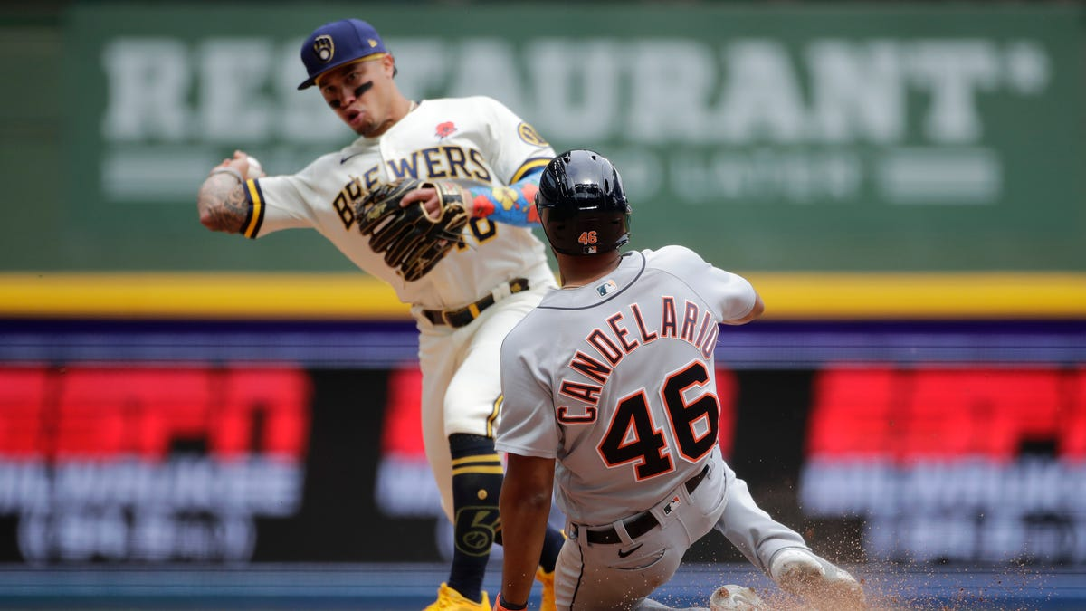Tigers' bullpen shines, but Brewers walk off with victory in 10th 2