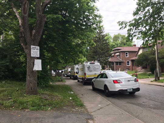 A person was critically injured in an early morning shooting involving IMPD police officers Monday, May 31, 2021, in the first block of Colorado Avenue on the east side of Indianapolis.