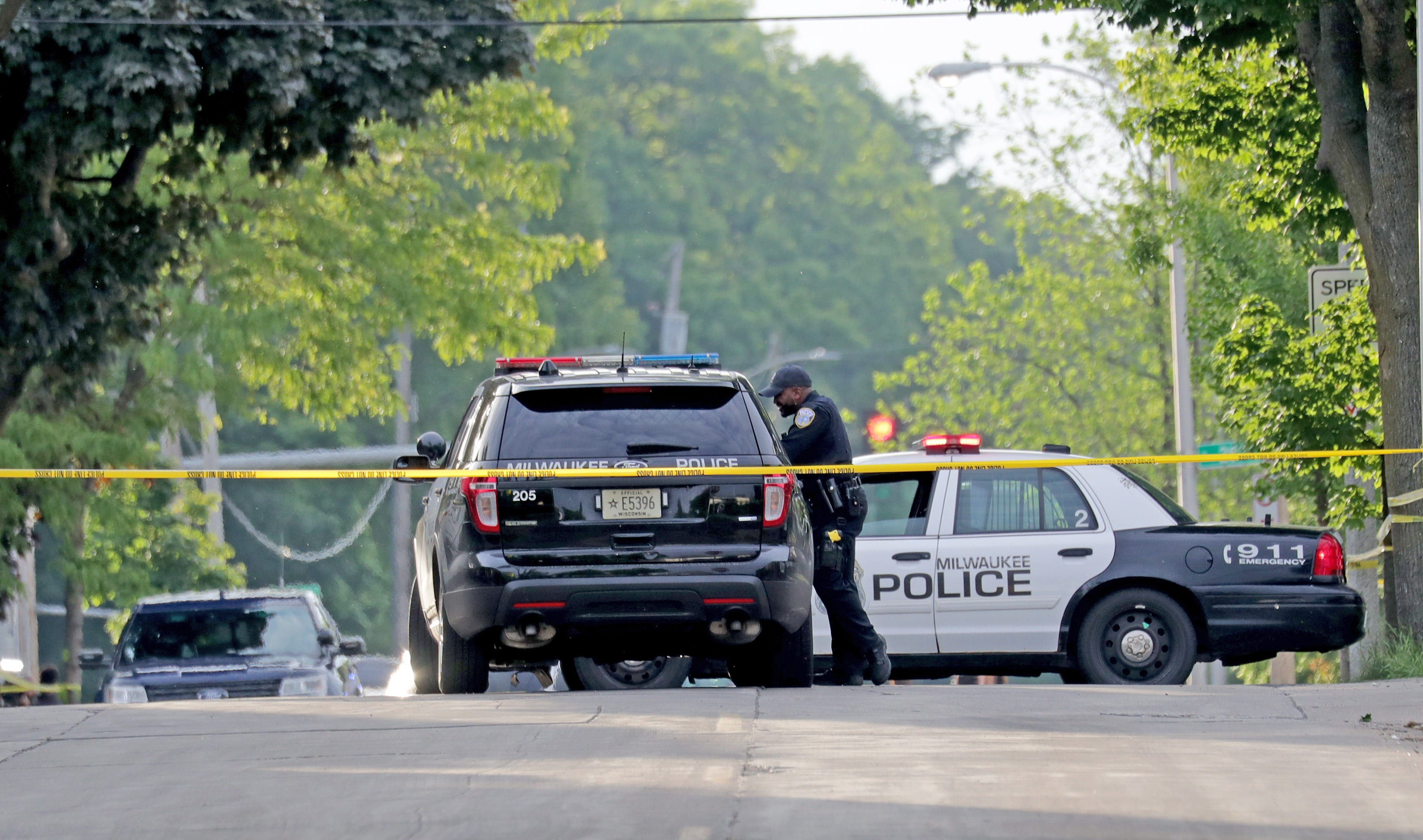 Raw video: Police at the scene after a fatal officer-involved shooting