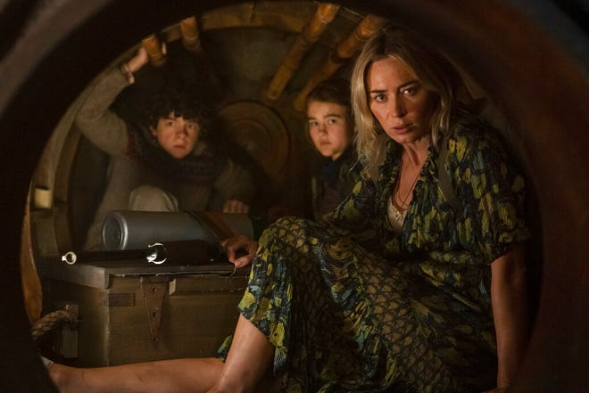 """From left, Noah Jupe, Millicent Simmonds and Emily Blunt star in """"A Quiet Place Part II."""""""