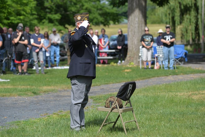 Veteran organizations and community members gathered Monday, May 31, 2021 at the bandstand at Staunton's Gypsy Hill Park to commemorate Memorial Day.