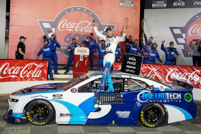 The Hendrick Train is sprinting with three consecutive victories.