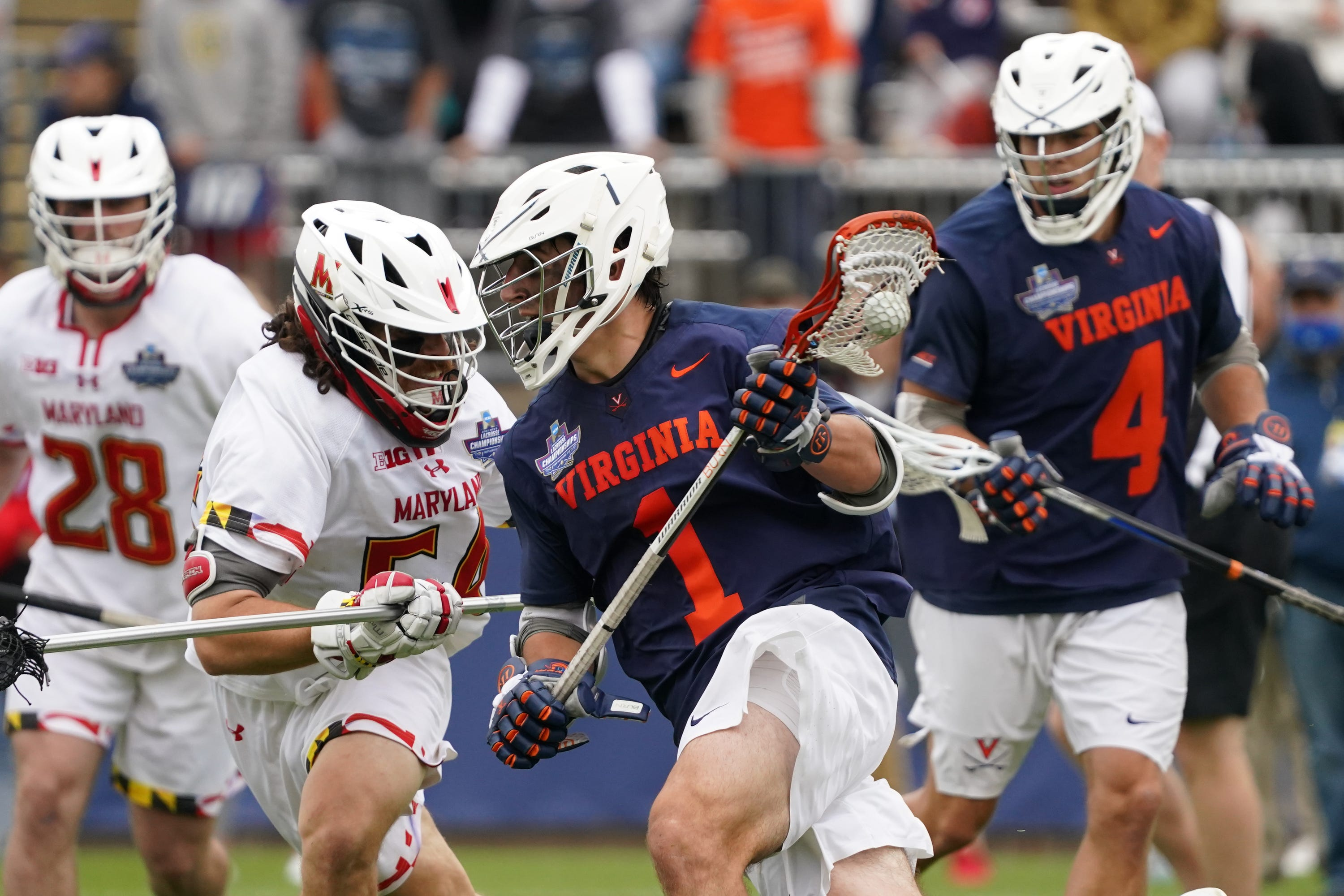Virginia hangs on for wild win over Maryland to repeat as NCAA men's lacrosse champions
