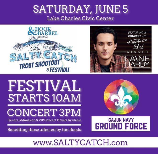 Laine Hardy will perform live on June 5th at 3 p.m. at the Lake Charles Civic Center