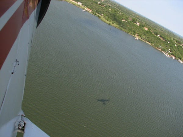 A section of Lake Brownwood is pictured from the air.