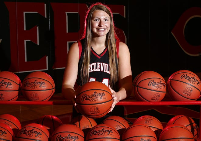 Scholar athlete Kenzie McConnell poses for a portrait at Circleville High School on Tuesday, May 18, 2021.