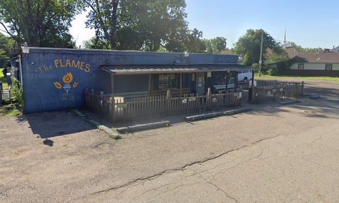 A man was killed and a woman wounded when Columbus police homicide detectives say they were shot Monday night by an unknown assailant in the parking lot outside The Flames Motorcycle Club on the 1200 block of Sigsbee Avenue on the Near East Side.
