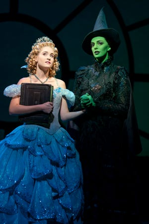 """Allison Bailey and Talia Suskauer in the North American Tour of """"Wicked."""""""