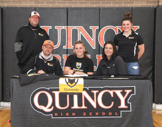 Quincy's Morgan Michael will take her talents to the collegiate level, having signed her letter of intent with Manchester University