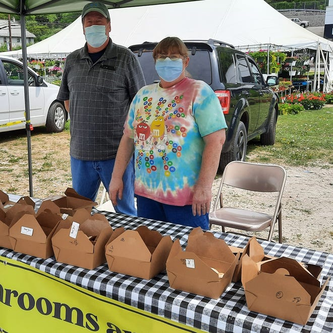 Fresh mushrooms of every variety are available at the Marley's Mushrooms and Wild Foods tent, capably staffed by Donna Garrigan and Michael Ulichny.