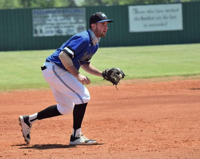 Crowder College third baseman Josh Patrick, a Truman High School graduate, has broken the school record for home runs in a single season with 18 while helping lead the Roughriders to the Junior College World Series.