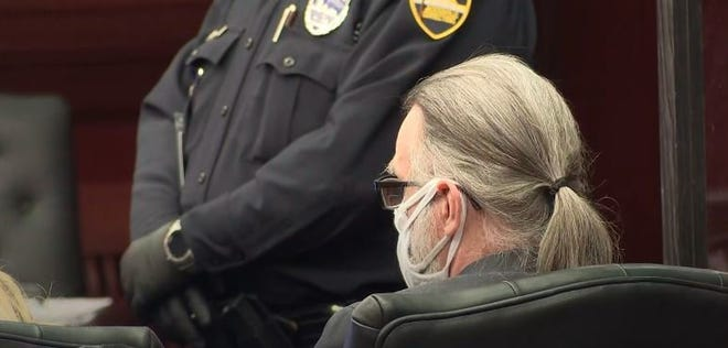 Russell Tillis listens to closing arguments during his April sentencing hearing.