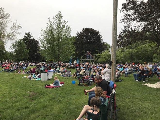 Concertgoers enjoy the first Levitt AMP concert of the season.