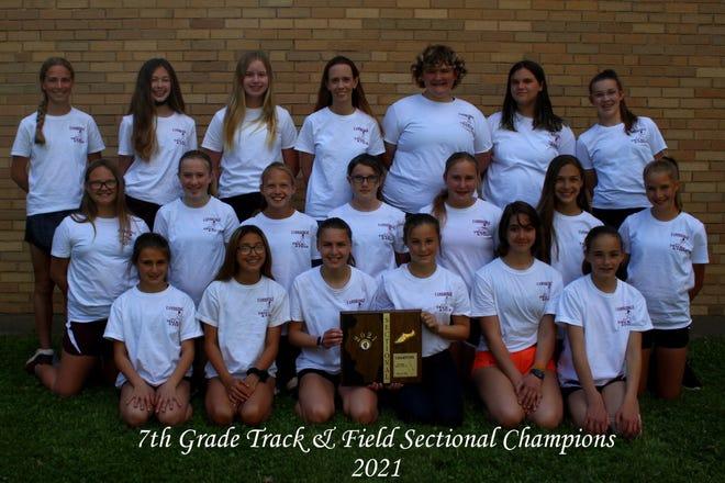 Cambridge 7th Grade track team