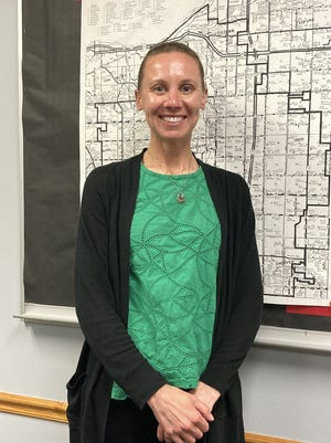 Amy Calderone Blommer took the oath of office on Wednesday, May 19, as a member of the Orion school board.
