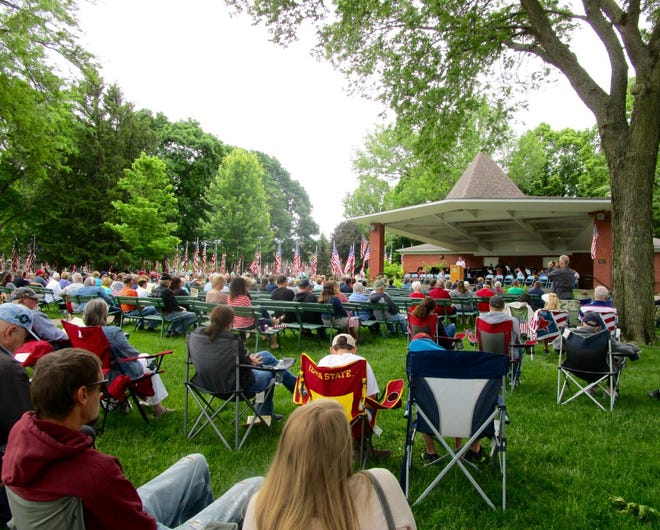 Young and old alike filled Geneseo City Park for the annual Memorial Day Program.