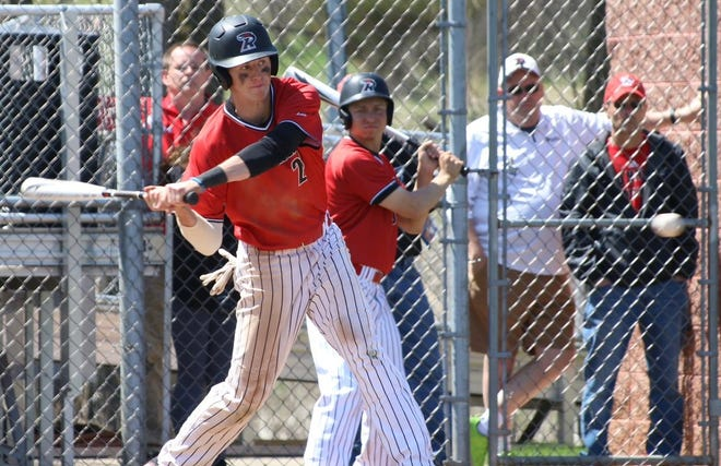 Former Richwoods High School player Nick Terrell, now a star at Ripon College, is on the Peoria Merchants 2021 summer college league team.