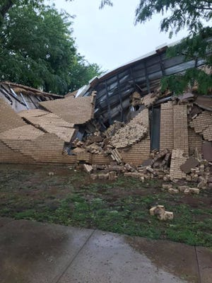The First Baptist Church in Crosbyton saw storm damage following this weekend's heavy rainfall events.