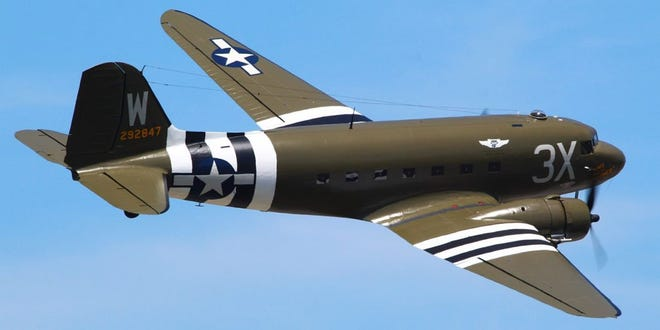 """The lead aircraft on the D-Day invasion, the C-47 """"That's All, Brother"""" is based at the Commemorative Air Force, Central Texas Wing in San Marcos."""