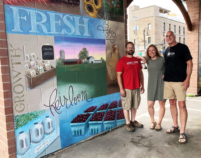 Brian Howell, of Howell Farm; Shannon Love, of Love Grown Farm; and Don Cotter, of CDGA Coffee Co., are market manager, vice president and president of the board of the Canandaigua Farmers Market, respectively. This year marks the popular downtown farm market's 20th anniversary.