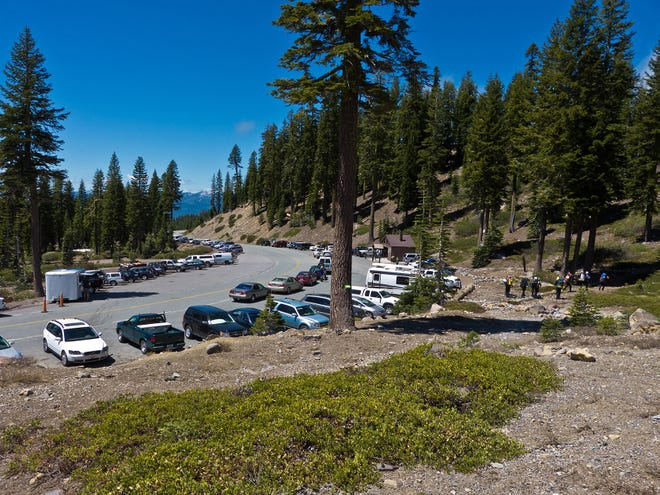 The parking lot at Bunny Flat in Mount Shasta has traditionally been free. The Forest Service is proposing a new day use fee of $5.