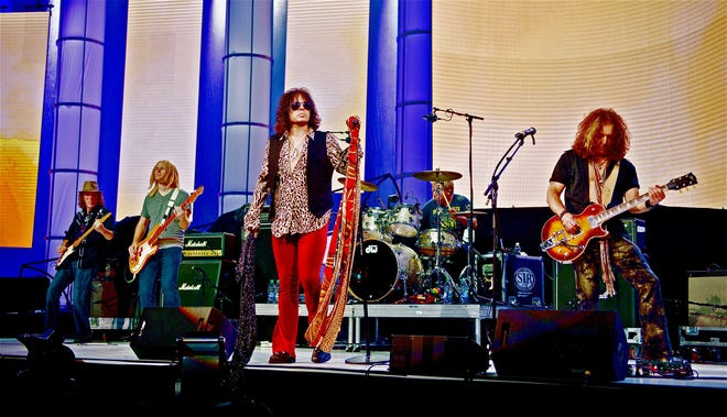 Aerosmith tribute band Draw the Line plays July 16 at the Launch at Hingham Shipyard.