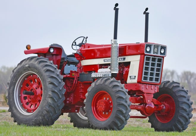 An International 1468 Farmall has a 549 cubic-inch diesel V-8 engine and will be one out of the 125 antique tractors from The Abilene Machine Collection that will be up for sale at auction on Friday, June 4.