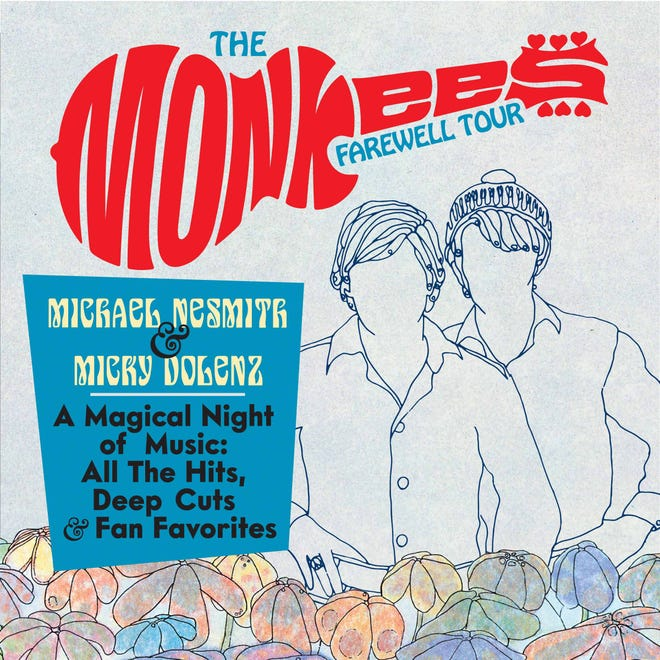 Michael Nesmith and Micky Dolenz of The Monkees will make a stop at the Stiefel Theatre as part of the band's farewell tour.