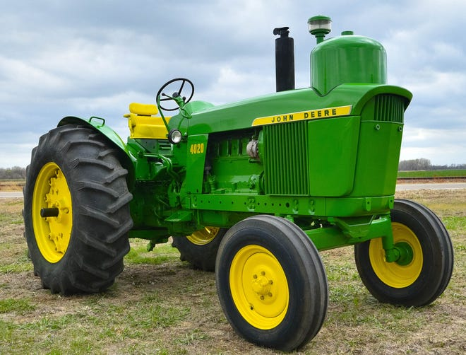 A John Deere 4020  that features a 5.9 liter inline six engine that runs on liquid petroleum gas, propane, is part of the Abilene Machine Collection that will be up for sale at auction on Friday, June 4.