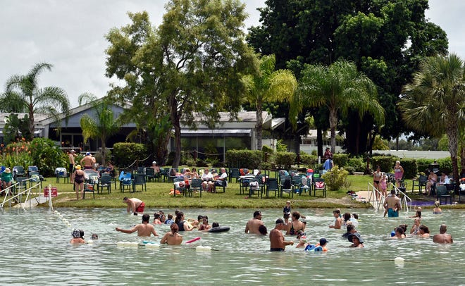 The spa building at the Warm Mineral Springs Park, along with an accompanying sales building and a cyclorama are on the National Register for Historic Places. Restoration of the buildings, which are believed to be designed by Jack West of the Sarasota School of Architecture for the State of Florida Quadricentennial Celebration in 1959, is part of the scope of the master plan to develop Warm Mineral Springs.