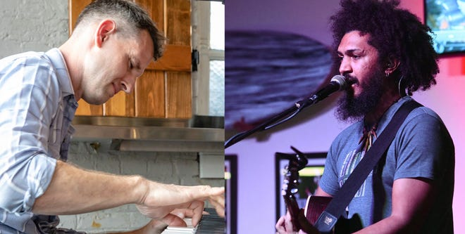 Joel Lamb, left, who records under the name RKTMN, and Jared Michael Cline will have a double album release show for their new records on June 6 at Waterline Brewing.