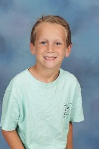 Quinn Law of Surf City Elementary School is Pender County Schools' Student of the Week.
