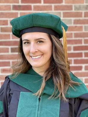 Dr. Sara Geary graduated from the West Virginia School of Osteopathic Medicine with a Doctor of Osteopathic Medicine degree May 29. She earned a bachelor's in ecology and environmental science from the University of Pittsburgh in Pittsburgh in 2016. She is a 2012 graduate of Somerset Area High School in Somerset. Geary is the daughter of John and Susan Geary of Somerset. She is married to Chance Rohrbaugh. She plans to enter a family medicine residency at Lehigh Valley Medical Center in Allentown.