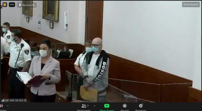 Danny Woellmer at his arraignment Tuesday in Worcester Superior Court.