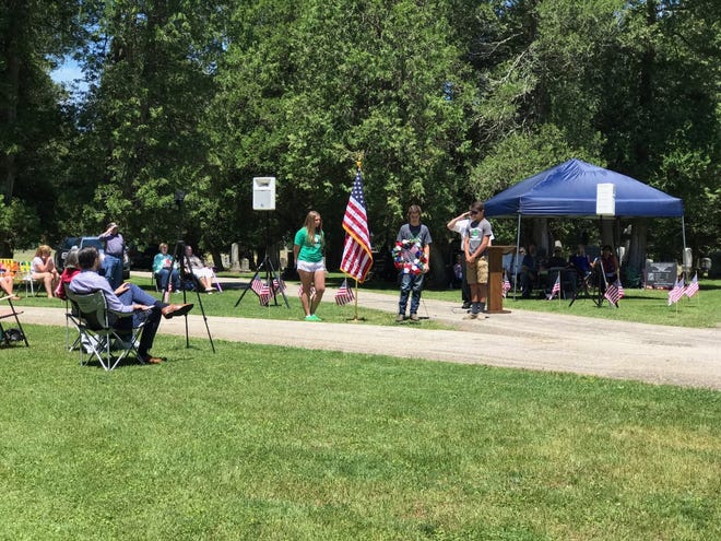 Three local 4-H clubs (Thunder Valley Pioneers, Red Rock Rebels and Kountry Kids) participated in the Memorial Day service at Port Washington. The clubs led the pledge of allegiance, and representatives Kyler Vosick, Emma Sprowl and Tucker Sharrock presented the wreath.