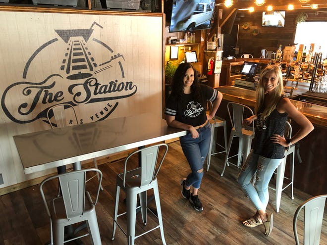 Mandy Braccini (left) and Skye Wagner are the new co-owners and managers of The Station Bar & Venue, formerly Sports on Tap. The reimaged tavern reopened April 30 at 4030 Main St. in Old Hilliard.