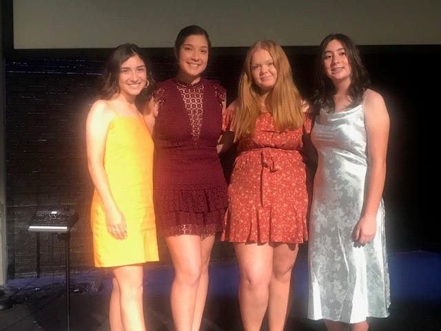 Waxahachie High School held its annual year-end golf awards banquet recently. Girls golf award winners were (from left): Player of the year - Vanessa Garza; Most Improved - Azzy Lozano; Heart Award - Allison Heflin; and Up & Coming - Ava Workman.