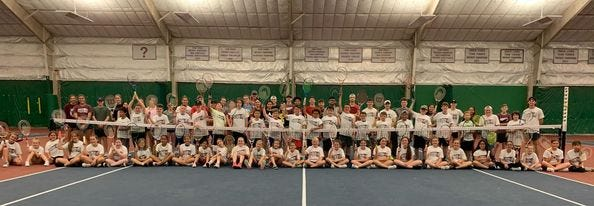 Ennis High School is offering free tennis lessons this summer to children in groups covering: 1st thru 3rd grade; 4th thru 6th grade; and 7th thru 8th grade.