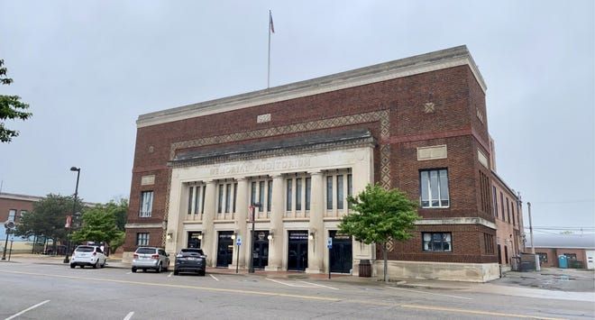 The Memorial Auditorium on N Washington Ave in Wellington where the Wellington Chamber of Commerce is located