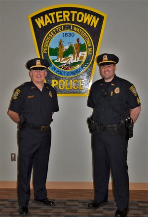 Watertown Police Department's Lt. Tom Grady, left, and Sgt. Eric Garabedian
