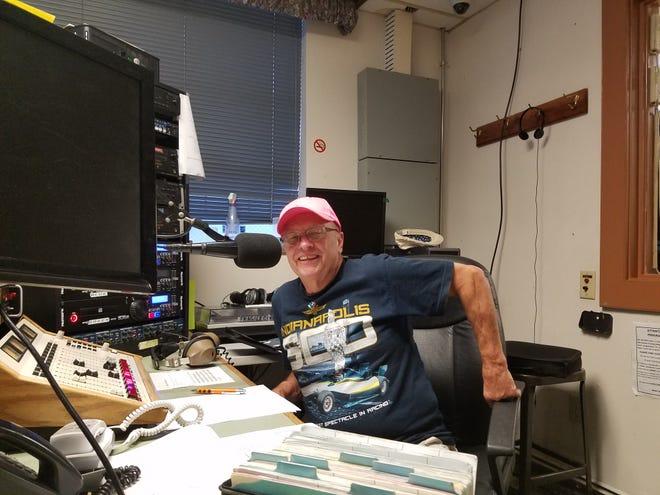 Captain Bobby Paul in the WAIF studio.