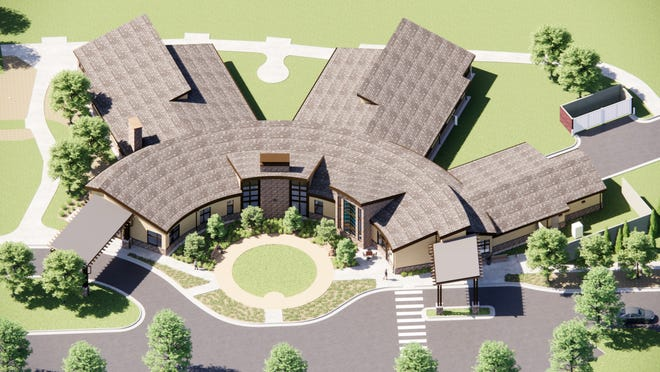 An artist's rendering of the exterior of Pathways' new inpatient care center